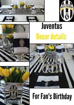 Juventus party decor