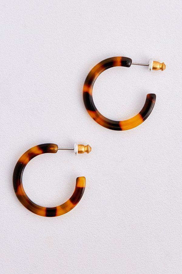 9740e8bfb Small Resin Hoop Earrings in 2019 | AW18 | Hoop Earrings, Earrings ...
