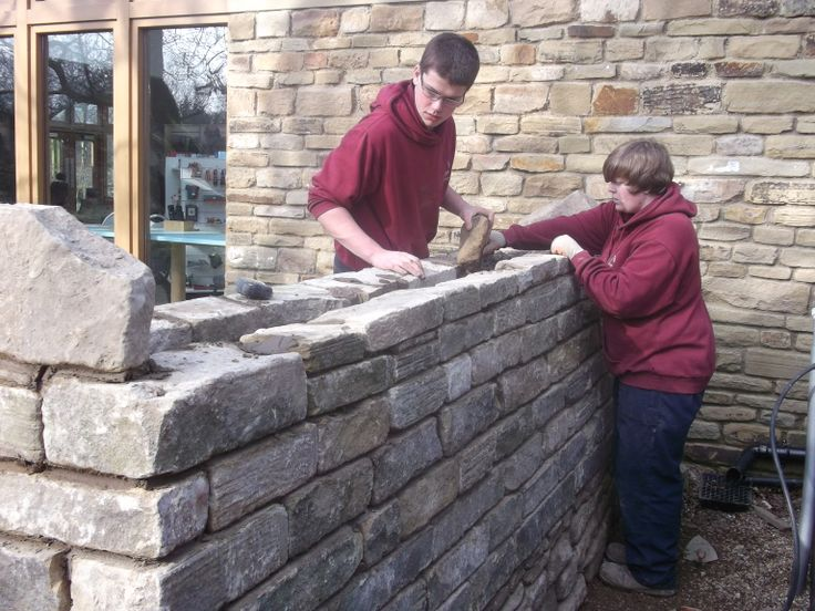 Our Apprentices building a wall at our Sutton Bank National Park centre.  #NAW2014 #MadeByApprentices