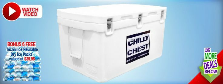Chilly chest icebox 150l includes 6 free dry ice packs