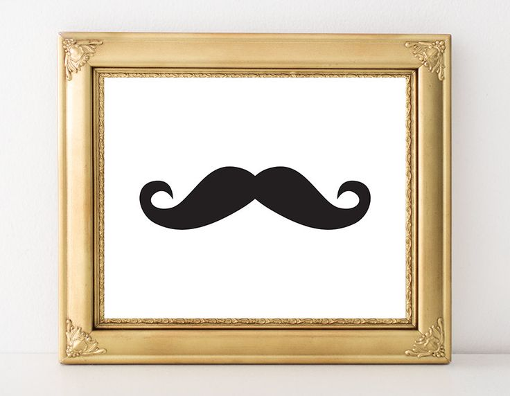 Hipster Mustache Printable Art Print Minimalist Art Black and White Nursery RetroStache Mustache Wall Art Modern Art 8x10 Instant Download by MossAndTwigPrints on Etsy