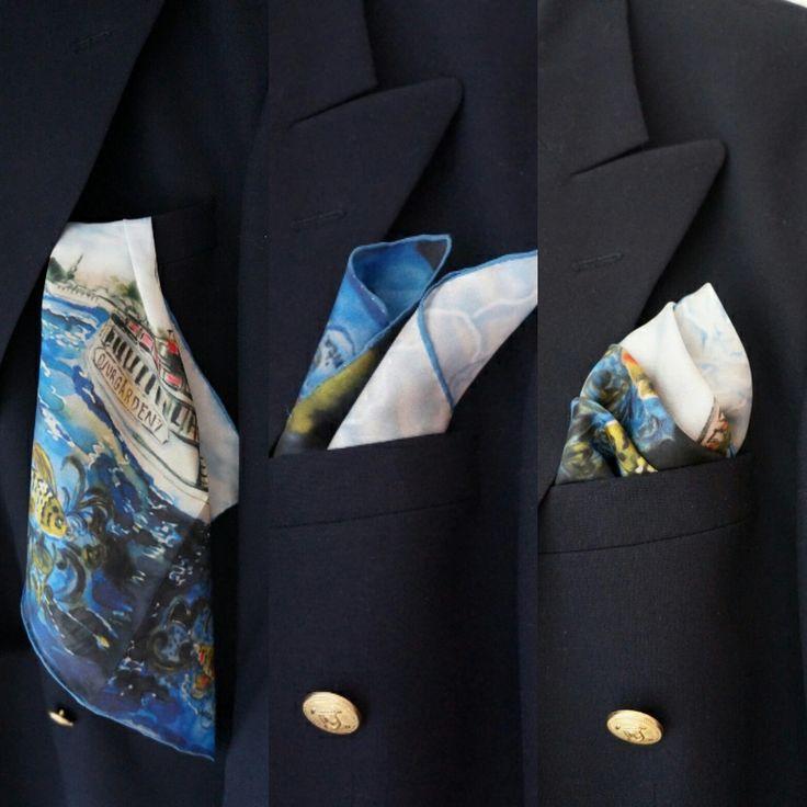 Hankie, Biscuits in Eken. Handmade handkerchief Carita K design  #hankie #näsduk #biscuitsineken #djurgården #stockholm #handkerchief #fashion #dressup #kavaj #menwithclass #classy #caritakdesign