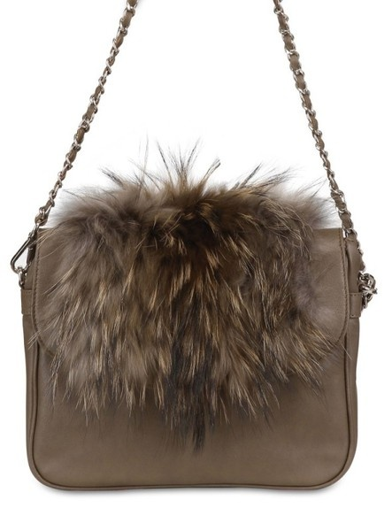 Diverso Italiano Smooth Leather Fur Eva Shoulder Bag in Brown. I repined this from http://www.lyst.com/bags/diverso-italiano-smooth-leather-fur-eva-shoulder-bag/?ctx=65029