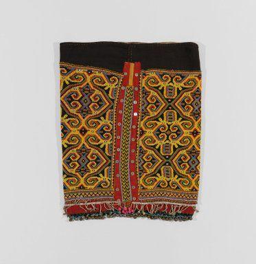 Woman's ceremonial beaded skirt-cloth with aso (dog-dragon) zoomorphic designs - Borneo - Herbert F. Johnson Museum of Art