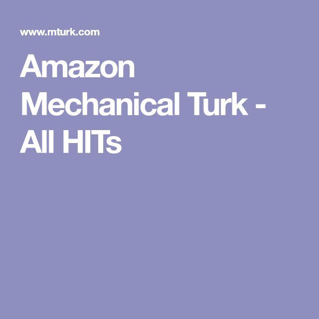 Amazon Mechanical Turk - All HITs