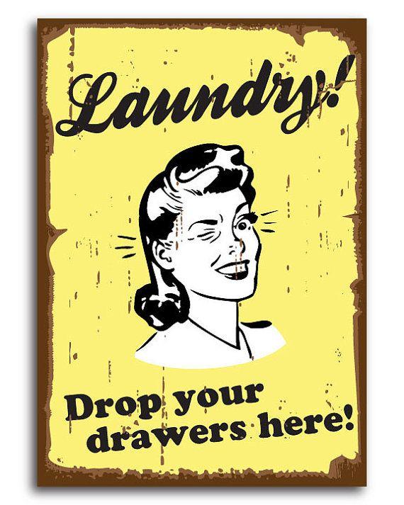Laundry room decor retro wall art vintage fun by for Laundry room wall art