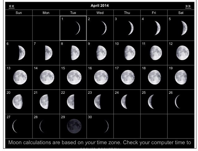 April Calendar With Moon Phases : Best images about the moon sun and stars on pinterest