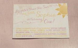 Sunshine Birthday Party via Kara's Party Ideas #yellow #FirstBirthday #party #idea #decorations #sunshine (22)