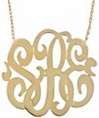 Monogrammed Necklace $150