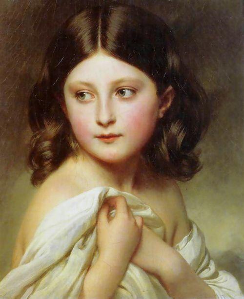 Franz Xaver Winterhalter  A Young Girl Called Princess Charlotte,