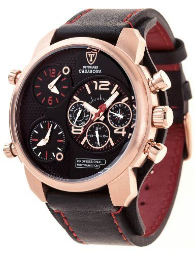 DETOMASO Men's DT2018-C CASABONA XXL Multifunction Trend Schwarz/Schwarz Analog Display Japanese Quartz Black Watch, http://www.amazon.com/dp/B00F9OT1HA/ref=cm_sw_r_pi_awdm_2RPFwb0VEQE85