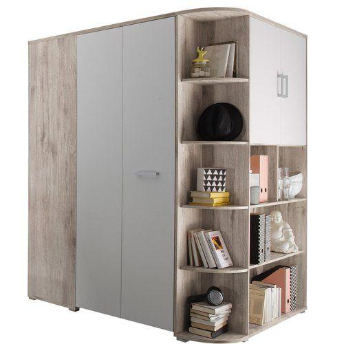 brayden studio petrin 1 door sliding corner wardrobe eckschrank