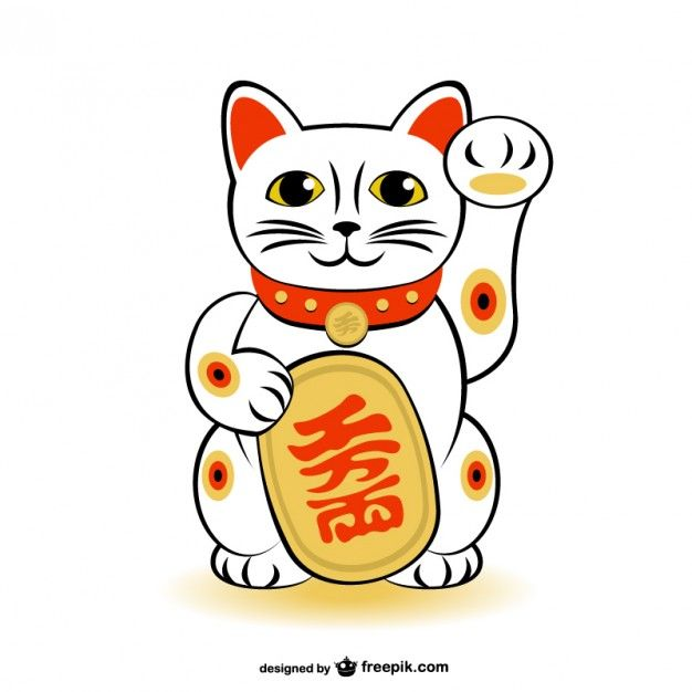 Maneki-Neko Lucky Cat Free Vector