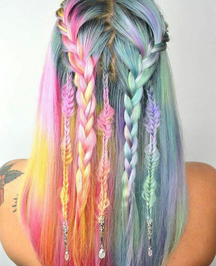 Mermaid Hairstyles ombre mermaid hair tutorialwwwhairextensionsalecom youtube Hair Color