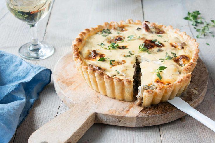 Plaisir végétarien : quiche aux poires et gorgonzola