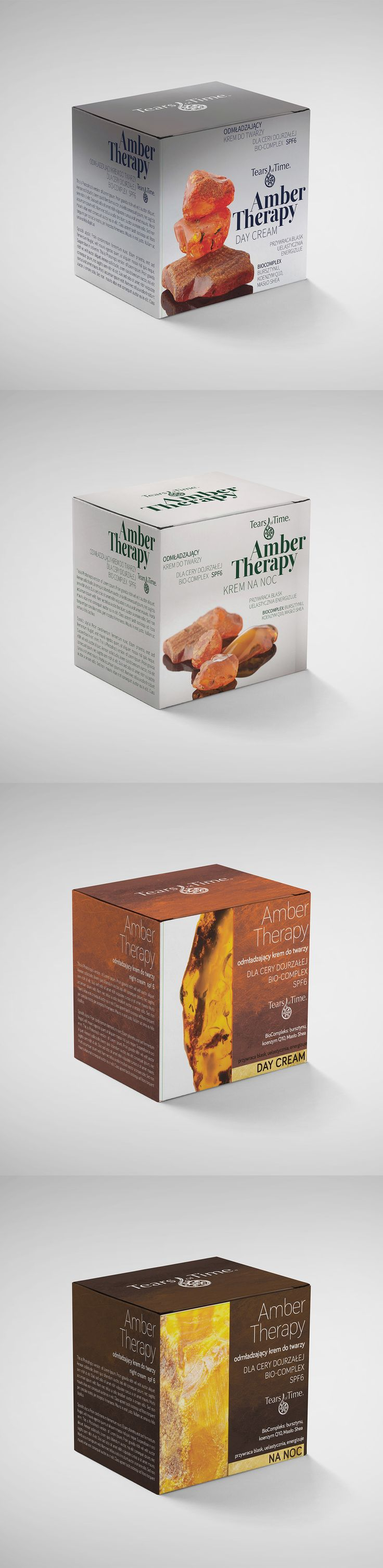 Packaging Design - Amber Creams -two concept for chinese market