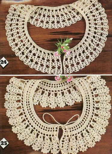 Crochet Knitting Handicraft: collar