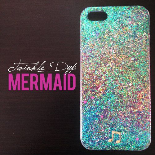 MERMAID  - iPhone case, glitter case for iPhone4/4S, iPhone5/5S on Etsy, $23.51 CAD