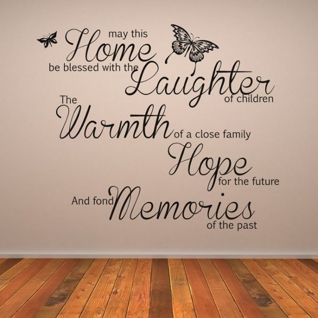 May This Home Be Blessed Wall Art Quote Wall Sticker Part 55