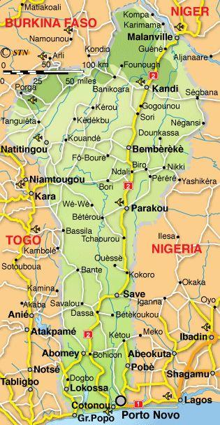 Benin Map..