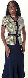 Tally Taylor 9411 Womens Two Piece Multi Color Skirt Suit
