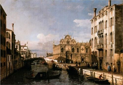 Rio dei Mendicanti and the Scuola di San Marco - Bernardo Bellotto