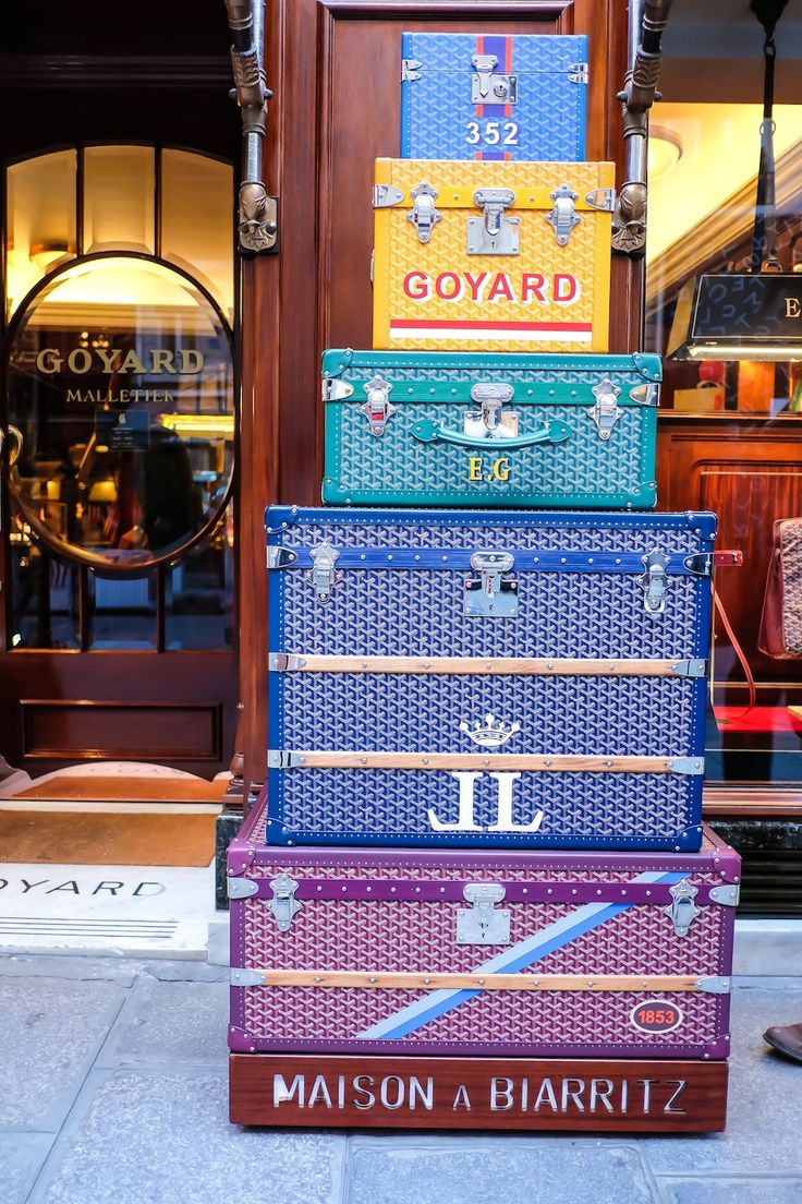goyard trunks in Paris // 48 hours in Paris, The Stripe