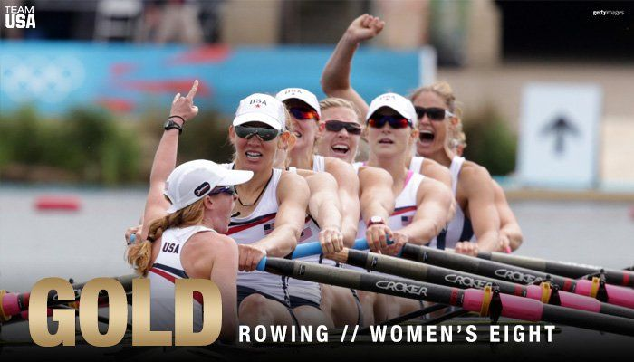 U.S. Olympic Team ‏@TeamUSA  Aug 13 THREE-PEAT! 🇺🇸  That's 🏅🏅🏅 in a row for @usrowing's women's eight!