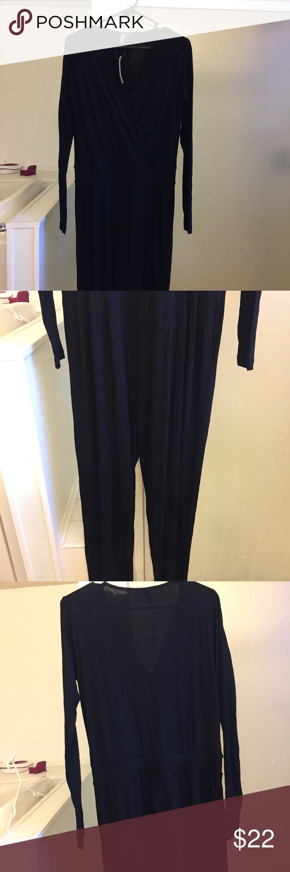 Black long sleeve romper ASOS size 10 NEW W/TAGS Beautiful romper. Hard to fit it in one photo so I took numerous of the entire thing. Great for tall people. (I'm 5' and it hangs on me). US size 10 ASOS Other