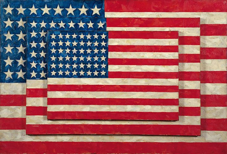 Три флага Джаспер Джонс (англ. Jasper Johns, р. 1930) – американский художник, известный своими поп-арт работами. Биография, картины: http://contemporary-artists.ru/Jasper_Johns.html