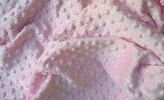 Minky Dots Pink