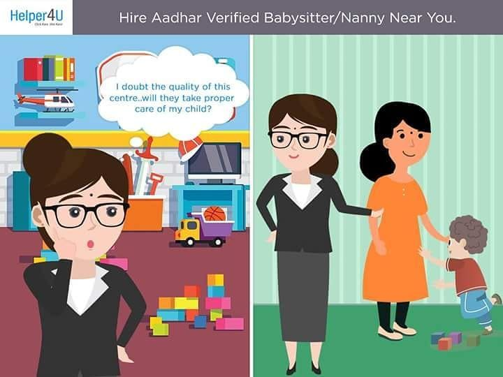 Worried about the quality of Daycare Centre/Crèche that takes care of your little one? Hire verified Babysitter/Nanny NEAR you NOW. Click here to start- Link in the bio. #Babysitter #Nanny #nearyou #nocommission #hirenow #onyourterms #like #pune #delhi #mumbai #aaya #comment #Helper4U #easytohire #caregiver #careforchildren #parenting #childcare #careforchild #careforothers #India #fulltime #parttime