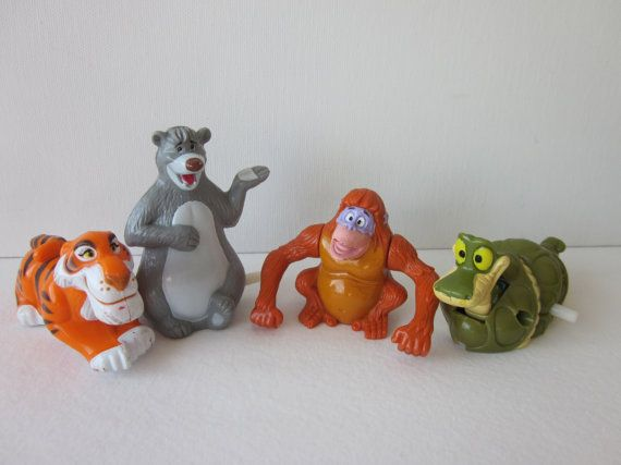Jungle Book WindUp Toys  McDonald's Happy Meal by NostalgiaMama, $10.00