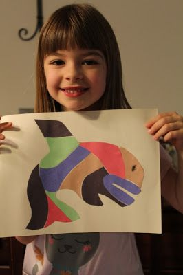 Tlingit paper pieced art project