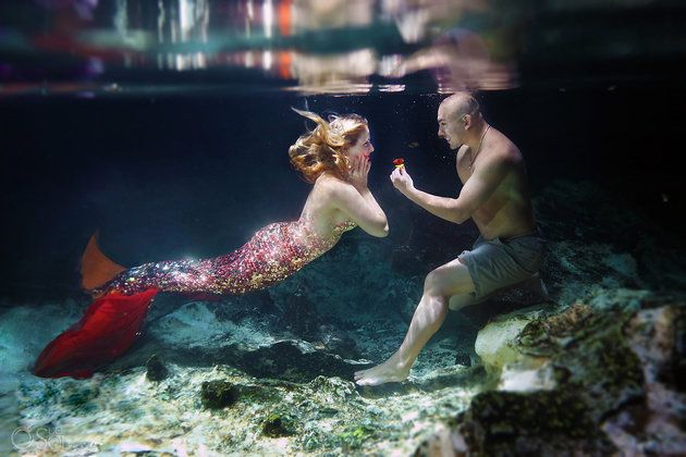 This Guy Proposed To His Mermaid-Obsessed Girlfriend Underwater