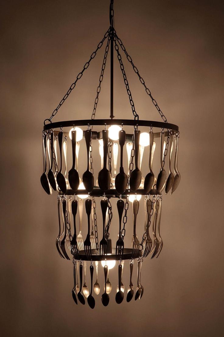 Utensil Chandelier 14 best Lighting images on