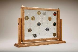 challenge coin display, Medium Swing Coin Display