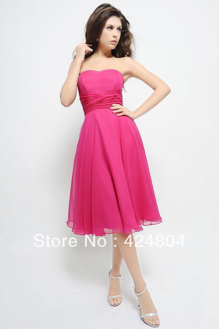 Best 25 fuschia bridesmaid dresses ideas on pinterest fuschia new simple hot fashion a line strapless ruched chiffon fuschia bridesmaid dress us 7900 ombrellifo Gallery