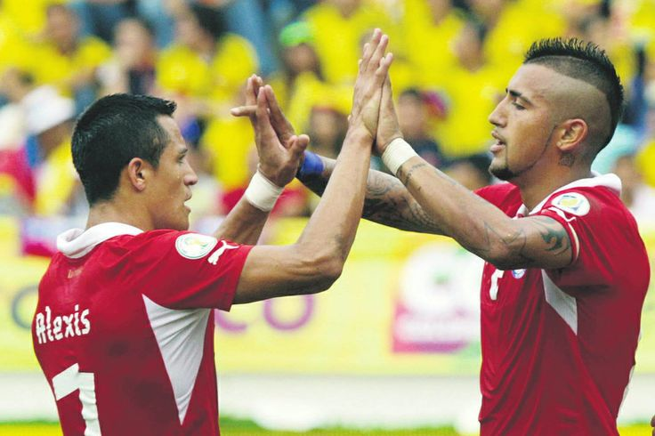 Alexis Sanchez and Arturo Vidal. Chile National Team