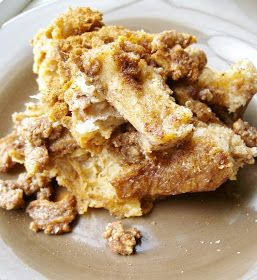 The Foodie RD: Slow Cooker French Toast Casserole with Streusel Topping: Cooker French, Crock Pot, Foodie, Slowcooker, Breads, French Toast Casserole, Dessert, Breakfast Brunch