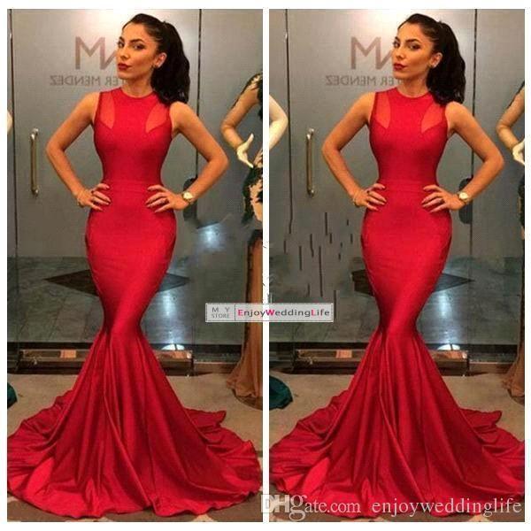 Cheap Red Mermaid Dress