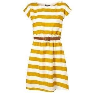 Wah: Summer Dresses, Spring Dresses, Yellow Stripes, Stripes Belts, Yellow Strips, Stripes Dresses, Mustard Yellow, Belts Dresses, Mustard Stripes