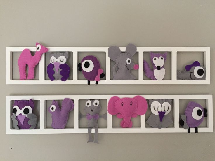 Cadre Mural Pour Décoration Chambre Enfant Et Bébé   Cadre Mural Rose Et  Gris   Hiboux  Oiseau Champignon  Lapin  Sur Mesure