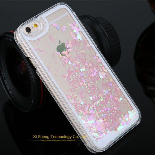 Hot sale case For iphone 5c! Fashion Bling Glitter Lovely Heart Liquid Quicksand cell phone cases for iphone 5c Factory price
