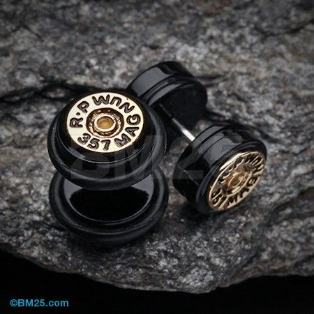 Magnum 357 Bullet Fake Plug with O-Rings