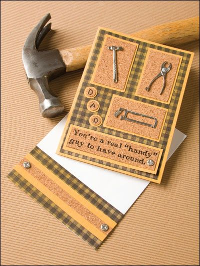 50 best tool cards images on pinterest masculine cards cards and dad is a handy guy tiny tools embellish this cork backed card for fathers m4hsunfo Image collections
