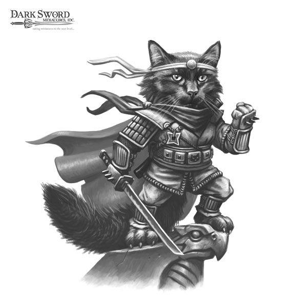 Black Cat Avenging Thief - Critter Kingdoms™ Anthropomorphic Animals - Miniature Lines