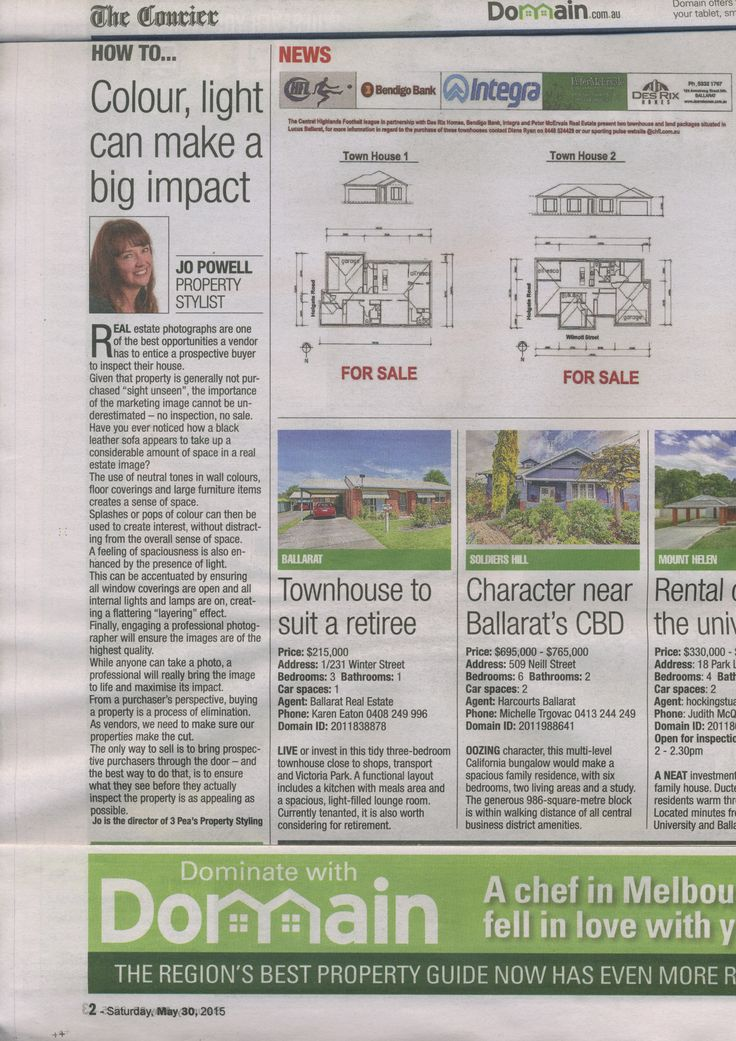 How to...Colour, light can make a big impact. Domain.com.au, The Courier, 30 May 2015.