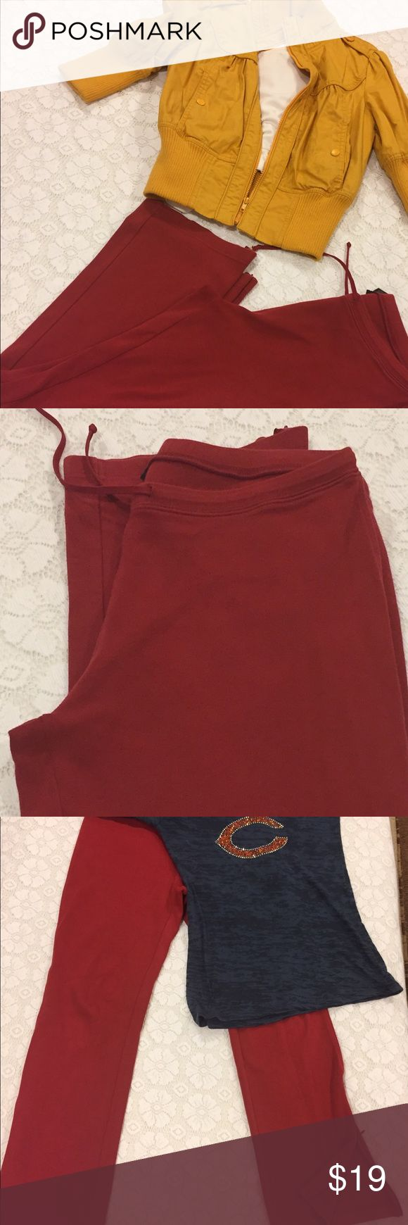 Limited Red Joggers Beautiful Athletic Pants in Brick Red.  Dress up these pants or dress down or simply work out in them they are so comfortable. Zipper Bottoms.  By The Limited. The Limited Pants Track Pants & Joggers