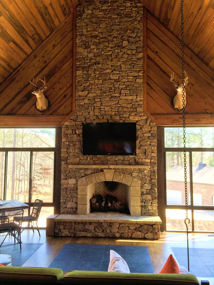 Rustic Interior Fireplace By Daco Stone Interior Stone